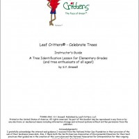 Leaf Critters® – Celebrate Trees Teacher's Guide
