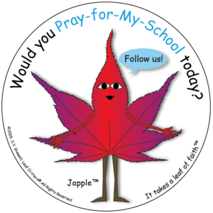 leaf critters, pray for my school, leaf of faith